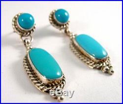 Navajo Handmade Sterling Silver Sleeping Beauty Post Earrings Renell Perry