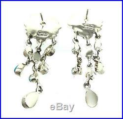 Navajo Handmade Sterling Silver Sleeping Beauty Turquoise Post Earrings