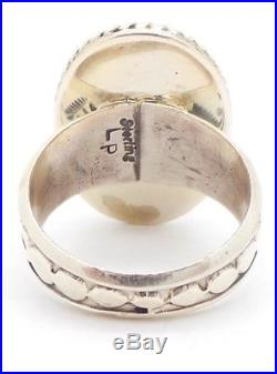 Navajo Handmade Sterling Silver Sleeping Beauty Turquoise Ring Size 9