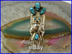 Navajo Kachina Sterling Silver Sleeping Beauty Turquoise RING D Smallcanyon