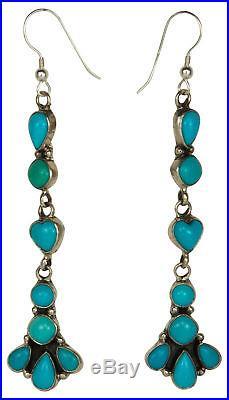 Navajo Native American Sleeping Beauty Turquoise Earrings by Spencer SKU#229253