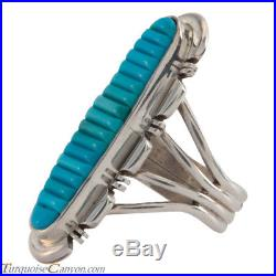 Navajo Native American Sleeping Beauty Turquoise Ring Size 6 3/4 SKU#226666