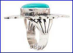 Navajo Native American Sleeping Beauty Turquoise Ring Size 7 SKU#231974