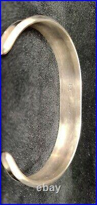 Navajo Paul Largo Sterling Silver Sleeping Beauty Turquoise Bracelet