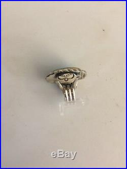 Navajo Paul Livingston Ring Sterling / Sleeping Beauty Turquoise Size 9