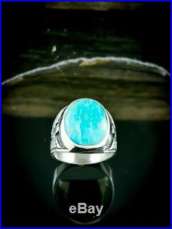 Navajo Ring, Sleeping Beauty Turquoise Ring, Size 9.5 ring, Native American Ring