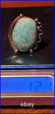 Navajo Sterling Silver & Natural Sleeping Beauty Turquoise Ring size 8.5 & 12g