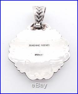 Navajo Sterling Silver Sleeping Beauty Petit Point Pendant Sunshine Reeves