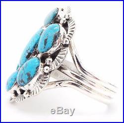Navajo Sterling Silver Sleeping Beauty Turquoise Bracelet Mary Ann Spencer