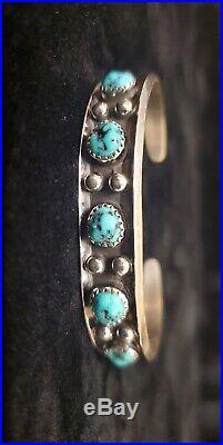 Navajopaul Largosterling Silversleeping Beauty Turquoise Bracelet