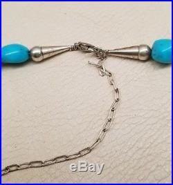 Necklace (N41T) Navajo Sleeping Beauty Turquoise Nuggets