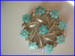New Zuni Sleeping Beauty Turquoise Pendant