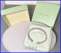 Nwot Unworn 7 Sterling Judith Ripka Rope Turquoise Sleeping Beauty Bracelet