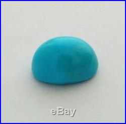 One Oval Shaped Natural Sleeping Beauty Turquoise Cabochon 10.5x15mm
