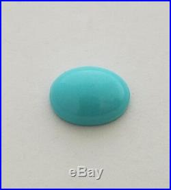 One Oval Shaped Natural Sleeping Beauty Turquoise Cabochon 12x15.5mm