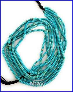 One Strand 100% Natural Sleeping Beauty Turquoise Rondelle Beads 4-5mm