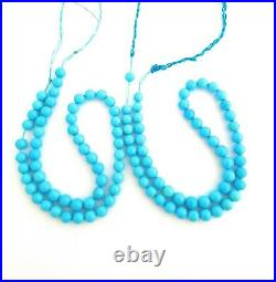 One Strand 100% Natural Sleeping Beauty Turquoise Round Beads 6.5-7mm