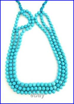 One Strand 100% Natural Sleeping Beauty Turquoise Round Beads 8mm