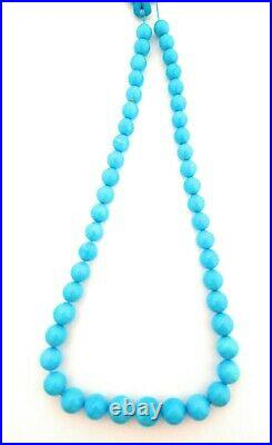 One Strand 100% Natural Sleeping Beauty Turquoise Round Beads 9-12.5mm