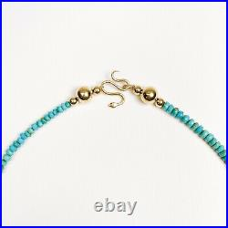 Ouroboros Jewelry 14k Gold with Sleeping Beauty Turquoise Snake Charmer Necklace