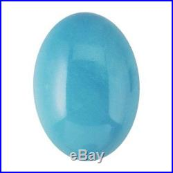 Oval 12 x 10 mm Sleeping Beauty Turquoise Cabochon Stone