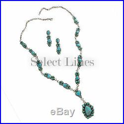 Panzy Johnson Sterling Silver Sleeping Beauty Kingman & Fox Turquoise Necklace