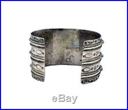 Pearl Ukestine, Bracelet, Sleeping Beauty Turquoise, Wide, Zuni Handmade, 6.75