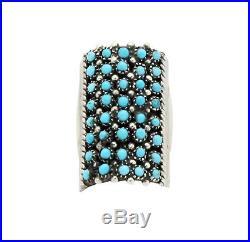 Peter Haloo, Ring, Sleeping Beauty Turquoise, 40 Stones, Zuni Handmade