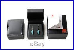 Pure 18k Gold Sleeping Beauty Turquoise Drop Earrings in Hook N0.288232