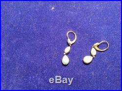 Qvc Sleeping Beauty Turquoise 14k Gold Linear Design Dangle Earrings Lovely