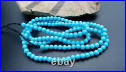 Rare Aaaaaa Robin's Egg Blue Sleeping Beauty Turquoise Untreated Beads 16strand