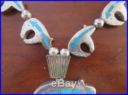 Ray Tracey (Knifewing) Spirit Bear, Sleeping Beauty turquoise sterling necklace