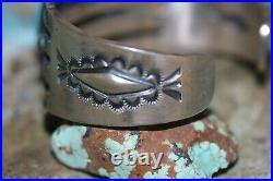Robert Johnson Navajo Cuff Bracelet, Sleeping Beauty Turquoise, Sterling, Signed