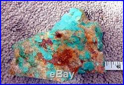 Rough Cut Sleeping Beauty Turquoise Polished Face Rock 499 gr 5 x 3.5 x 1.5