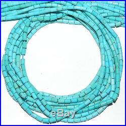 SLEEPING BEAUTY Blue Turquoise (S) 4x3mm Round Tube Beads 18 T464k