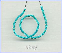 SLEEPING BEAUTY TURQUOISE 2.9-3.1MM PETITE RONDELLE BEADS 8 Strand 525D