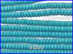 SLEEPING BEAUTY TURQUOISE 3mm Rondelle Beads AAA Natural /S2