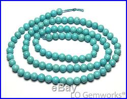 SLEEPING BEAUTY TURQUOISE Blue 4mm Round Beads AAA 16 Strand /R57