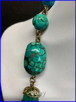 STEPHEN DWECK Sleeping Beauty Turquoise, Crystal, Quartz, Jade Necklace Signed