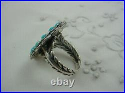 Signed CAROLYN POLLACK RELIOS AW American West Sleeping Beauty Turquoise Ring 7