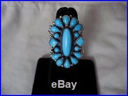 Signed Vintage LEO FEENEY Sleeping Beauty Turquoise Ring Size 8-Timeless