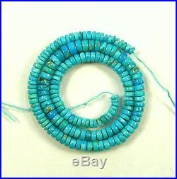 Sleeping Beauty TURQUOISE smooth tyre beads AAA 4.5-7mm 16.5