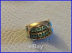 Sleeping Beauty Turquoise & 1/4 ct tw Diamond Ring 14K Gold