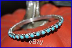 Sleeping Beauty Turquoise Bangle Bracelets, Sterling by Gaynell Parker