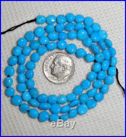Sleeping Beauty Turquoise Blue 5mm x 6.5mm Natural Nugget Beads 18 Std # 972