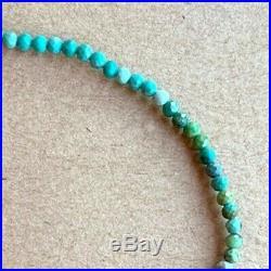 Sleeping Beauty Turquoise Bracelet Rare Beaded Gemstone stack layering 8 18k