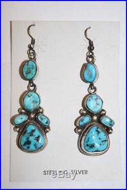 Sleeping Beauty Turquoise Dangle Earrings on Wire by Kathleen Chavez
