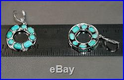 Sleeping Beauty Turquoise Earrings Lever Backs, All Sterling, Beautifully Made