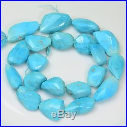 Sleeping Beauty Turquoise Faceted Nuggets 15.5 inch strand