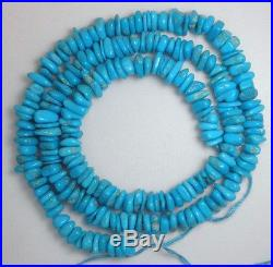 Sleeping Beauty Turquoise Gemstone Chip Beads Blue 18 Inch Strand Lot # 531A